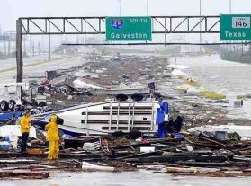 The road to Galveston. I was evacuated for 67 days.